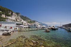 Amalfi transparent water Royalty Free Stock Photo