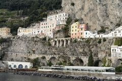 Amalfi typical Buildings Stock Image