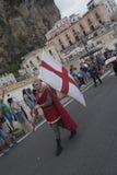 Amalfi upplaga 61 av historisk regatta av den maritima Republen Royaltyfri Fotografi