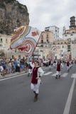 Amalfi upplaga 61 av historisk regatta av den maritima Republen Arkivfoton