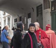 Amalfi upplaga 61 av historisk regatta av den maritima Republen Royaltyfri Foto