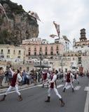 Amalfi upplaga 61 av historisk regatta av den maritima Republen Royaltyfri Bild