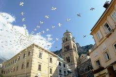 Amalfi vierkant van de Kathedraal Stock Afbeelding