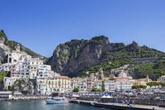 Amalfi village in the province of Salerno in Italy. Amalfi village on the Amalfi Coast in the province of Salerno in Italy stock photos