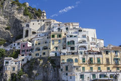Amalfi village in the province of Salerno in Italy. Amalfi village on the Amalfi Coast in the province of Salerno in Italy royalty free stock photos