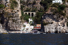 Amalfi village. A small fishermen village on the amalfi coast in italy stock images