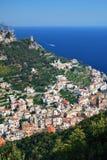 Amalfi von oben Stockbild