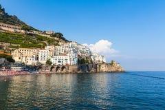 Amalfi von Süd-Italien Lizenzfreies Stockbild