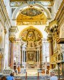 AMALFI WŁOCHY, PAŹDZIERNIK, - 14, 2017: Wnętrze Amalfi kot Obraz Stock