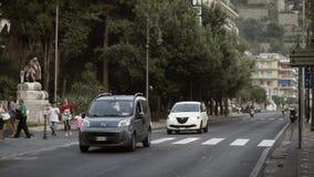 AMALFI WŁOCHY, WRZESIEŃ, - 18, 2015: Południowa Włochy droga w mieście zdjęcie wideo