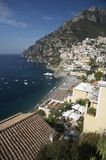 amalfi wybrzeża positano Włochy Obrazy Royalty Free