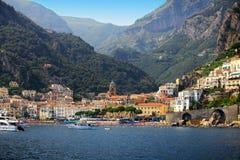 Amalfi wybrzeże w Włochy zdjęcia stock