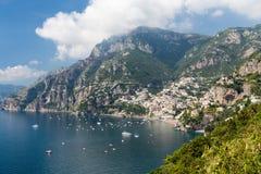 Amalfi wybrzeże w Włochy Obrazy Stock
