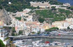 Amalfi wzdłuż Tyrrhenian wybrzeża, Włochy Obraz Royalty Free