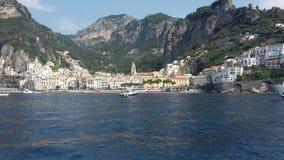 Amalficoast en Italia imagen de archivo libre de regalías