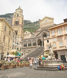 Amalfi, Italy. Town of Amalfi , Italy is a beautiful stretch of coastline on the southern coast of the Sorrentine Peninsula Stock Photo