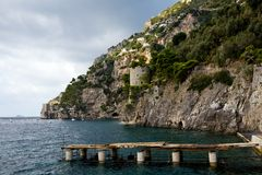 amalfitana美好的costiera视图 免版税库存图片