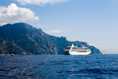 amalfitana美好的costiera视图 免版税库存照片