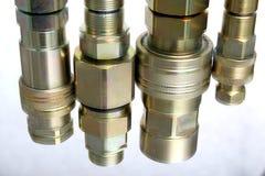 Amalgamations- hydraulic's element. Different types of amalgamations used in hydraulic construction Stock Image