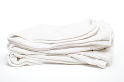 Amalgamted white cotton socks Stock Images