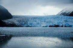 Amalia Glacier no Chile fotografia de stock royalty free