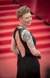 Amalia Mordvinova na czerwonym chodniku przed otwarciem 37 Moskwa Międzynarodowy ekranowy festiwal Obrazy Royalty Free