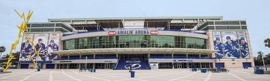 Amalie Arena. Home of NHL's Tampa Bay Lightning Stock Photo