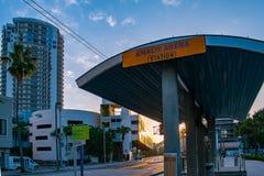 Amalie Sreetcar Station nel distretto di Manica fotografie stock libere da diritti
