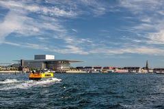 Amaliehaven e ópera nova em Copenhaga imagens de stock royalty free