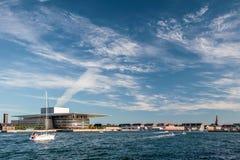 Amaliehaven and new opera in Copenhagen Royalty Free Stock Photos