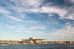 Amaliehaven and new opera in Copenhagen Royalty Free Stock Photography