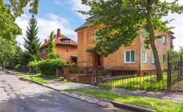 Area Amalienau in Kaliningrad. Russia. Royalty Free Stock Image