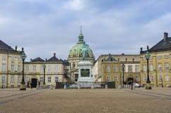 Amalienborg在哥本哈根 库存图片