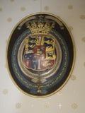 Amalienborg城堡的,哥本哈根皇家丹麦冠 库存图片