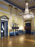 Amalienborg城堡,哥本哈根内部  库存照片