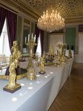 Amalienborg城堡,哥本哈根内部  免版税图库摄影