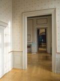 Amalienborg城堡,哥本哈根内部  图库摄影