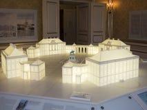 Amalienborg城堡,哥本哈根内部  库存图片