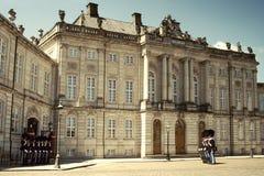 Amalienborg城堡 哥本哈根 库存照片