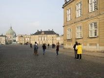 Amalienborg宫殿,哥本哈根丹麦 库存图片