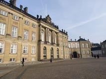 Amalienborg宫殿,哥本哈根丹麦 免版税库存照片