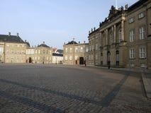 Amalienborg宫殿,哥本哈根丹麦 免版税库存图片