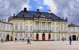 Amalienborg,哥本哈根,丹麦 免版税库存图片