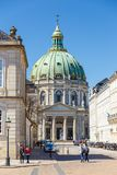 Amalienborg,弗雷德里克` s教会,叫作大理石教会 库存图片