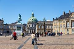 Amalienborg, église du ` s de Frederik, connue palais sous le nom d'église et de chrétien VII ` de marbre s photographie stock