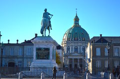 Amalienborg στην Κοπεγχάγη στοκ εικόνα με δικαίωμα ελεύθερης χρήσης
