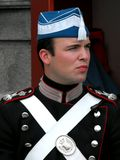 amalienborg φρουρά της Κοπεγχάγης & Στοκ Φωτογραφίες