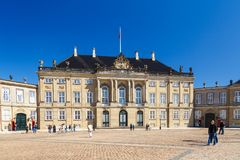Amalienborg, χριστιανικό VII παλάτι ` s, αρχικά γνωστό ως παλάτι Moltke ` s στοκ εικόνα