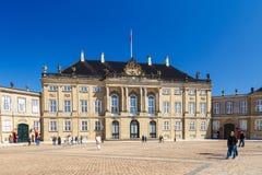 Amalienborg, дворец ` s Кристиана VII, первоначально известный как дворец ` s Moltke стоковое изображение