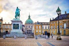 Amalienborg, королевский датский резидент семьи стоковые изображения